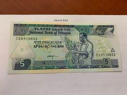 Ethiopia 5 Birr Uncirc. Banknote 2017 - Etiopia