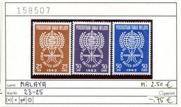 Malaya - Federation Of Malaya - Michel 23-25 - ** Mnh Neuf Postfris - Malaria - Federation Of Malaya
