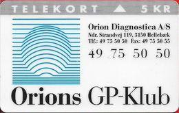 Denmark - KTAS - Orions Gp Klub - TDKP175 - 09.1995, 5kr, 5.500ex, Used - Denmark