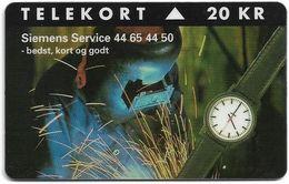 Denmark - KTAS - Siemens Service - TDKP171 - 09.1995, 20kr, 1.000ex, Used - Denmark