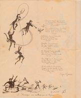 PROGRAMME Pour La Soirée Du 16 Avril 1887 17 Rue Turbigo ( Paris ? Ou Narbonne ? )( Eugène GARCIN ) - Programmes