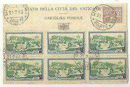 """8430"""" STATO DELLA CITTA DEL VATICANO-AFFRANCATURA MULTIPLA CON SEGNATASSE """"-CARTOLINA POSTALE ORIGINALE NON SPEDITA - Vatican"""
