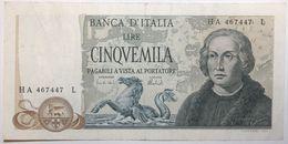 Italie - 5000 Lire - 1973 - PICK 102b - TTB - 5000 Lire