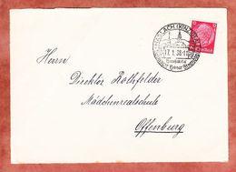 Vorderseite, Hindenburg, SoSt Haslach, Nach Offenburg 1938 (95169) - Covers & Documents