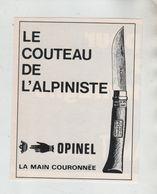 Le Couteau De L'alpiniste Opinel La Main Couronnée - Pubblicitari