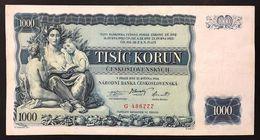 Ceskoslovenska CECOSLOVACCHIA 1000 KORUN 1934 P#26a Lotto 1065 - Slowakije