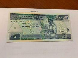 Ethiopia 5 Birr Uncirc. Lot Of 2 Banknote 2015/7 - Etiopia