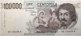 Italie - 100000 Lire - 1990 - PICK 110b - TTB+ - [ 2] 1946-… : Républic