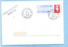 1995 PARIS-ÉLECTION PARIS 1er - Marcophilie (Lettres)