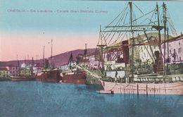 ONEGLIA  (IMPERIA) - CARTOLINA - DA LEVANTE- CALATA GIAN BATTISTA CUNEO - Imperia