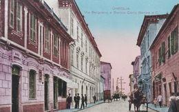 ONEGLIA  (IMPERIA) - CARTOLINA - VIA BELGRANO E BANCA CARLO BENSA E C. - Imperia