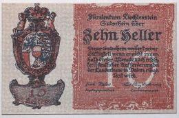 Liechstenstein - 10 Heller - 1920 - PICK 1 - NEUF - Liechtenstein