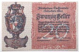 Liechstenstein - 20 Heller - 1920 - PICK 2 - NEUF - Liechtenstein