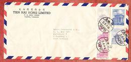 Luftpost, Chungshan-Gebaeude U.a., Taipei Nach Hamburg 1968 (95179) - Briefe U. Dokumente