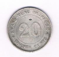 20 CENTS 1912-1924  KWANG-TUNG PROVINCE  CHINA /4841/ - Chine