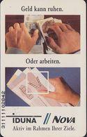 GERMANY S28D/91 IDUNA - Geld Kann Ruhen . DM Scheine - S-Series : Sportelli Con Pubblicità Di Terzi
