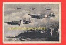 Aereo Fiat BR 20 Cicogna  Formazione Da Combattimento Cpa Viaggiata 1943 Avion Aviation Planes - Guerra 1939-45