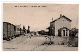 Nevers - La Gare Du Tonkin  - Train - Beau Plan -  CPA° - Nevers