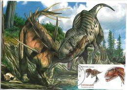 CARTE MAXIMUM - MAXICARD - MAXIMUM KARTE - MAXIMUM CARD - PORTUGAL - DINOSAURES AU PORTUGAL - Torvossaurus Gurneyi - Timbres