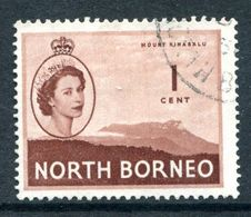 North Borneo 1954-59 QEII Pictorials - 1c Mount Kinabalu Used (SG 372) - North Borneo (...-1963)
