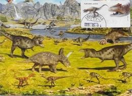 CARTE MAXIMUM - MAXICARD - MAXIMUMKARTE - MAXIMUM CARD - PORTUGAL - DINOSAURES AU PORTUGAL - Allosaurus - Timbres