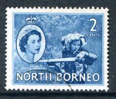 North Borneo 1954-59 QEII Pictorials - 2c Native Musical Instrument Used (SG 373) - North Borneo (...-1963)