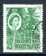 North Borneo 1954-59 QEII Pictorials - 3c Coconut Grove Used (SG 374) - North Borneo (...-1963)
