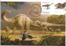 CARTE MAXIMUM - MAXICARD - MAXIMUM KARTE - MAXIMUM CARD - PORTUGAL - DINOSAURES AU PORTUGAL - Allosaurus - Cartes-maximum (CM)