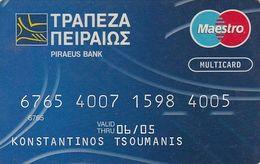 GREECE - Piraeus Bank(reverse Elektra), Maestro Card, 01/03, Used - Credit Cards (Exp. Date Min. 10 Years)