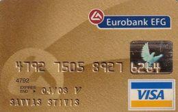GREECE - Eurobank EFG(reverse Pikappa), Gold Visa, 03/06, Used - Credit Cards (Exp. Date Min. 10 Years)
