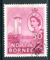 North Borneo 1954-59 QEII Pictorials - 50c Clock Tower Jesselton Used (SG 382) - North Borneo (...-1963)