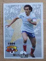 #16 CARTE PANINI FOOTBALL 1994 MICHEL PLATINI FRANCE JUVENTUS SAINT ETIENNE - Altri
