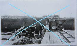 Photox3 LIGNY Région Tongrinne Saint Amand Sombreffe Terrassement 1943 Usine De Filtration D'eau - Lieux