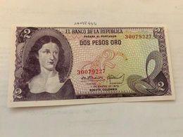 Colombia 2 Pesos Uncirc. Banknote 1972 - Colombia
