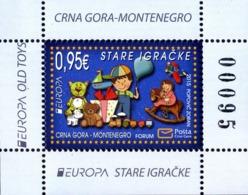 2015 EUROPA Stamps, Old Toys, Block, Montenegro, MNH - Montenegro