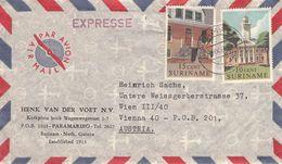 SURINAME - AIRMAIL 1961 PARAMARIBO - VIENNA/AT /T149 - Surinam ... - 1975