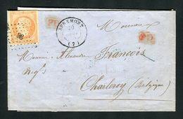 Belle Lettre D'Apremont Pour Charleroi ( Belgique 1855 ) Avec Un N° 16 - Cachet PC 98 - 1849-1876: Klassieke Periode