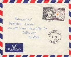 DAHOMEY - AIRMAIL 1975 COTONOU - VIENNA/AT /T156 - Benin – Dahomey (1960-...)