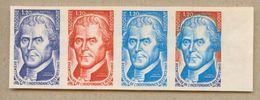 Thomas Jefferson Bicentenaire De L'indépendance Des Etats Unis, Bande De 4 Essais De Couleur Dont 1 Multicolore Du N°255 - Autres