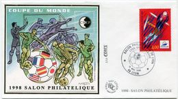 FRANCE BLOC CNEP N°26 COUPE DU MONDE 1998 SUR ENVELOPPE 1er JOUR AVEC OBLITERATION ILLUSTREE LYON 15 MAI 1998 - 1998 – Frankrijk
