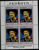 PENRHYN 1995 THE 95th BIRTHDAY OF H.M. QUEEN ELIZABETH THE QUEEN MOTHER MINI SHEET Mi No 577 MNH VF!! - Penrhyn