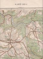 SART SOLWASTER TIEGE NIVEZE STER HOCKAI  Carte Militaire En 1933 - Mapas Topográficas