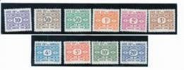 Cote Des Somalis Taxe 1947 Serie Comlete YT T 44-53 - Französich-Somaliküste (1894-1967)