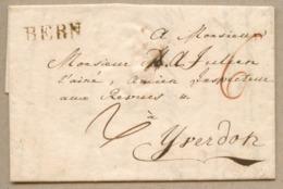BERN (Winkler 512 : 26 X 7) Lettre De Berne Pour Yverdon En Mars 1817 Taxe 6 - ...-1845 Préphilatélie