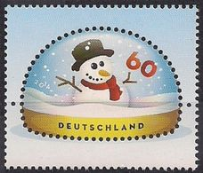 2014Germany3111Snowman In A Snow Globe - Unused Stamps