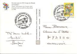 1997 Tournoi De France De Football (Pré-Mondial) Nantes :Italie / Angleterre; Entier Postal - Storia Postale