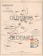 PORTUGAL - ATLAS PECUARIO - MAPA DO DISTRITO DO SANTAREM - 1880 - Maps