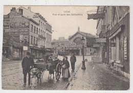 Liége  Rue Et Gare Des Guillemins ( Attelage De Chiens ) - Liege
