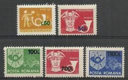 Romania 1999 Mi Por 135-139 MNH ( ZE4 RMNpor135-139 ) - Voitures
