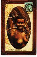 Afrique Du Sud, Jeune Fille Seins Nus  Circulèe En 1910 TB - Afrique Du Sud